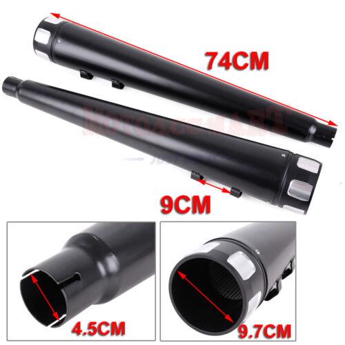 "4/"" Megaphone Exhaust Pipes Mufflers Slip-On For Harley Road Street Glide Ultra"