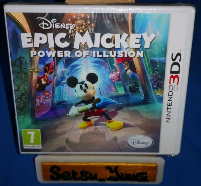 DISNEY EPIC MICKEY POWER OF ILLUSION NINTENDO 3DS NEUF SOUS BLISTER 100% FR