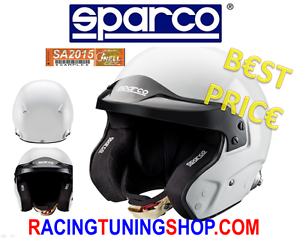 CASCO-SPARCO-RJ3-OMOLOGATO-SNELL-2015-RACING-JET-HELMET-WITH-CLIPS-HANS-XL