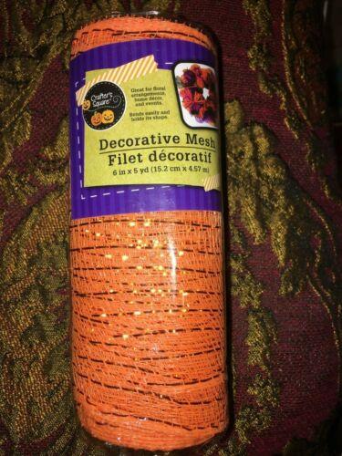 6x5yd Fall Metallic Halloween Deco Mesh Wrap Roll Floral Craft Wreath Ribbon*