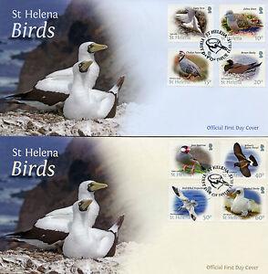 ST-HELENA-2015-FDC-Bird-Definitives-12v-Set-di-3-COPERTINE-Birds-phaethon-FRANCOBOLLI