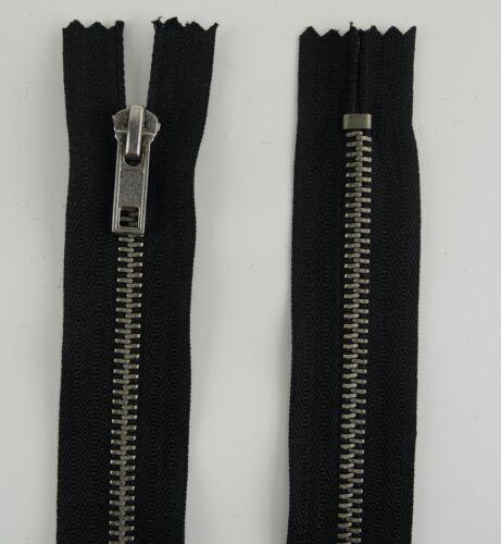 Metall nicht teilbar 20 25 30 35 40 45 50 55 60 65-90  cm Reißverschluss 6mm