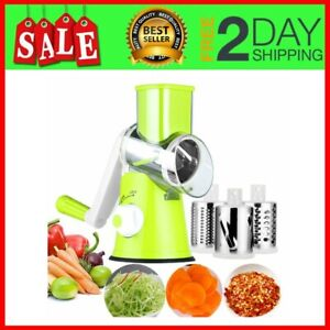 Kitchen Stainles Steel Vege Food Chopper Hand Held Rotary Cheese Grater Shredder