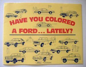 1984 ford dealer coloring book mustang bronco thunderbird