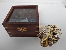 Sextant laiton pour navigation et astronomie dans son coffret bois, neuf
