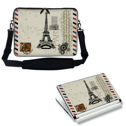 "17/"" 17.3/"" Neoprene Laptop Computer Bag w Shoulder Strap /& Matching Skin 2907"