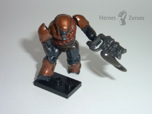 Common Halo Mega Bloks Series 4 Covenant Copper Brute with Spike Rifle