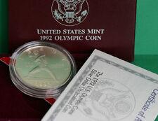 1992 Olympic BU 90% Silver Dollar BASEBALL Coin Set US Mint Box and COA UNC