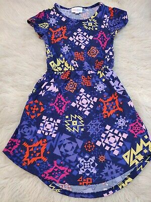 Girls' Clothing (sizes 4 & Up) Kids' Clothing, Shoes & Accs Lularoe Girl's Purple Tribal Pattern Pocket Dress Size 4t