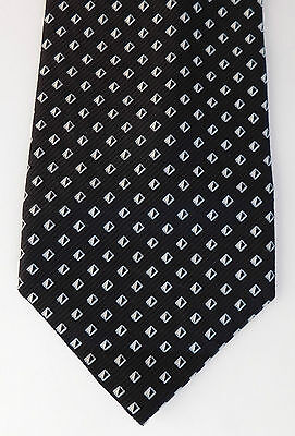Black and white check tie pure silk kipper Impressioni by Countess Mara wide