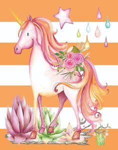 "Unicorn  art unicorn print Dream big dreams Size 8x10/"" Unicorn wall art print"