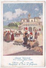 VERCELLI VALSESIA COSTUME 124 RIMA SABBIA - Pittore ROSSI Cartolina