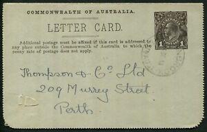Australia-1914-18-KGV-Sideface-Design-Lettercard-P-12-in-sepia-1918-Sep-14