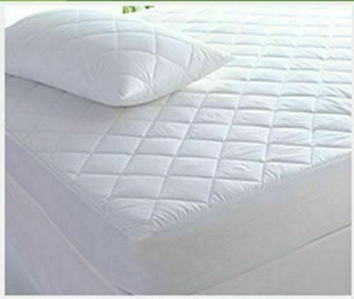 70X140CM COTBED QUILTED MATTRESS PROTECTOR DEEP FITTED SHEET ALL SIZES