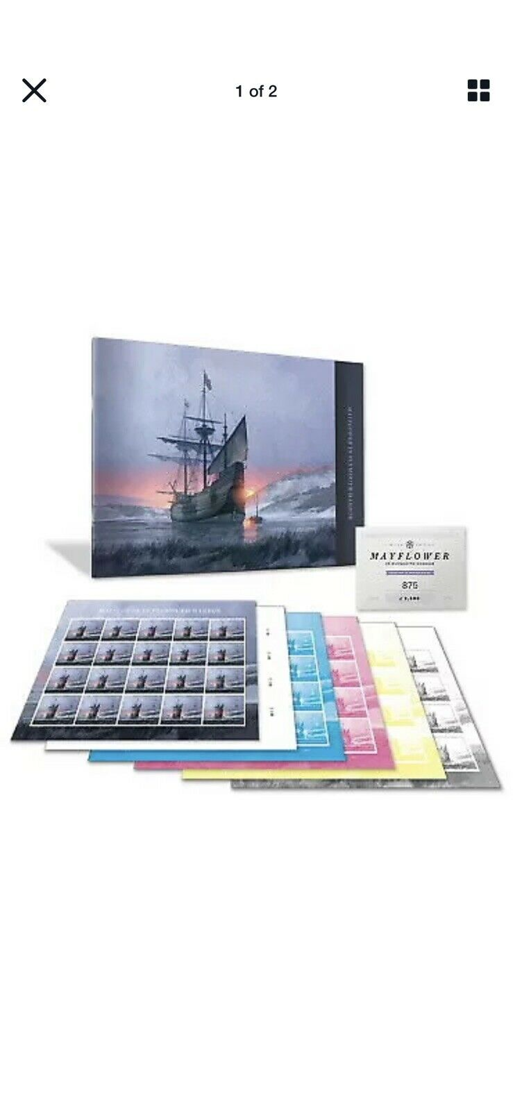 2020 US Stamp - Mayflower in Plymouth Harbor - Collector Set - SC# 5524