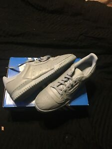 fc911f38 Image is loading Men-s-Adidas-Yeezy-Powerphase-Calabasas-Grey-Shoes-