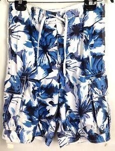 11f722788e Aeropostale Men's Cargo Long Board Shorts Blue Floral Swim Trunks ...
