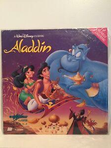 Aladdin Laser Disc Walt Disney - Rare Cover