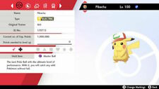 All Ash Hat Pikachu- Pokemon Sword & Shield - Pokemon Home - 6IV - Ultra Shiny