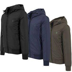 URBAN-CLASSICS-PADDED-Windbreaker-Jacket-tb1458-Uomo-Giacca-Invernale-Cappuccio-Nylon