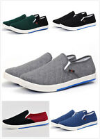 Fashion Men Flats Loafers Slip On Canvas Sneakers Boat Casual Shoes