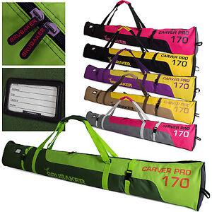 """BRUBAKER 'Carver Pro' Single Ski Bag Padded holds 1 pair of Ski up to 67"""" or 75"""""""