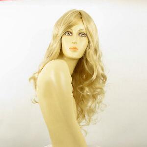 Perruque-femme-mi-longue-blond-dore-meche-blond-tres-clair-ZARA-24BT613