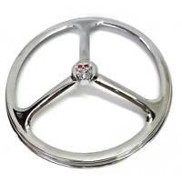Chrome Tri Bar W Metal Skull 7 Headlight Ring Cover For Motorcycle Head Light