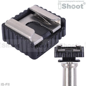 iShoot-Metal-flash-Adaptateur-Hot-Shoe-Mount-pour-Tete-de-trepied-Stand-leger