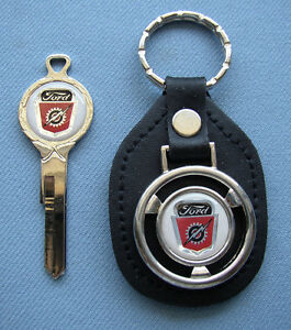 FORD F-1 TRUCK KEYCHAIN CLASSIC FOB EMBLEM BLACK AND WHITE