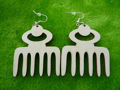 Natural wooden earrings kit various African Adinkra symbols laser cut crafts