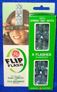 Vintage GE Flip Flash CG-38A2 for Kodak Trimlite & Tele-Instamatic 8 Flashes/Box