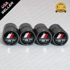 Black Chrome Car Airtight Wheel Tyre Tire Air Valve Caps Stem Cover TRD Emblem