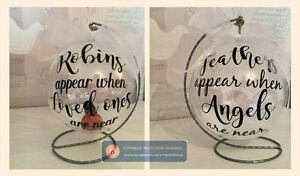 Robins appear when loved ones are near vinyl sticker for diy bauble image is loading robins appear when loved ones are near vinyl solutioingenieria Images
