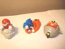 Sonic Hedgehog 3 Piece Lot  McDonalds Happy Meal Toys 1994