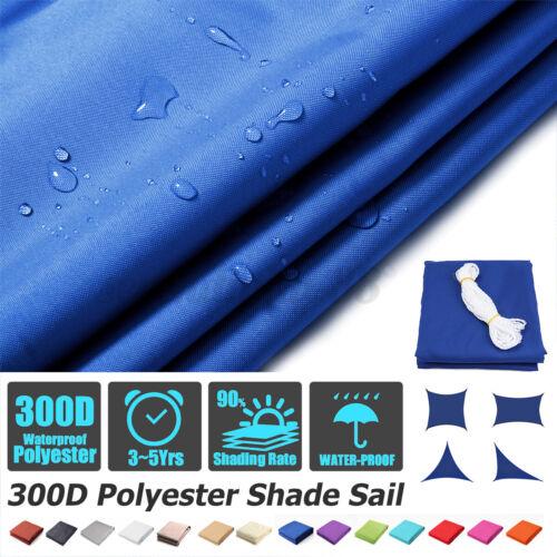 300D Sun Shade Sail Canopy Patio UV Block Top Rectangle Triangle Cover
