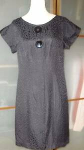 Frock-by-Tracy-Reese-Little-Black-Dress-Silk-Shift-Short-Sleeves-Large-10