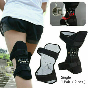 Super-Lift-Joint-Support-Knee-Brace-Pad-Rebound-Spring-Force-Running-Leg-Band-UK
