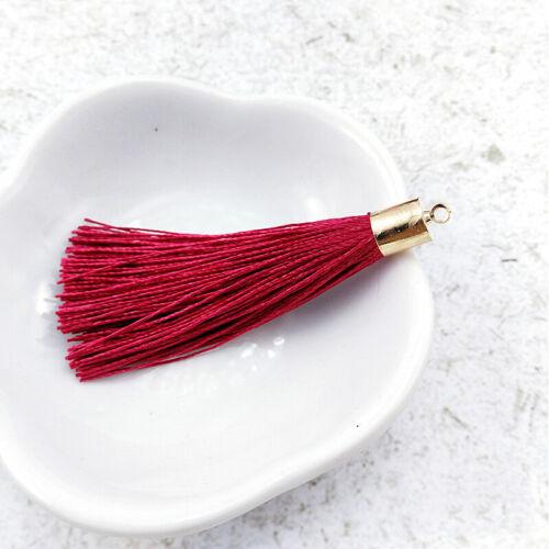 4pcs//lot Metal hat tassels for jewelry making DIY Earrings Tassel Pendants Trim