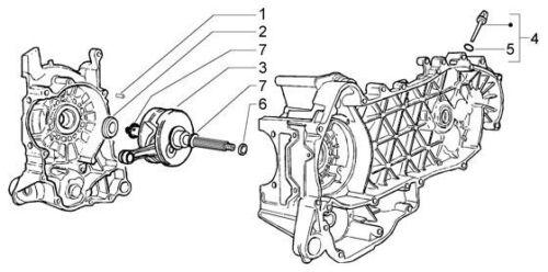 carburateur Embiellage//Vilebrequin Vilo de Qualité Piaggio X-Evo 250 //MP3 250