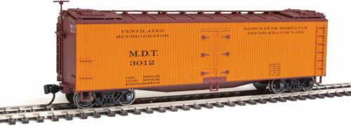 #3012 Orange//Boxcar Red Walthers HO Scale 40/' Early Reefer Merchants Despatch