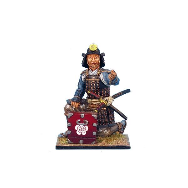 SAM014 Samurai Kneeling with Cartridge Box - Oda Clan by First Legion