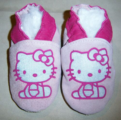 Moxiesbabyshoes PINK KITTY handmade soft soled leather girl baby shoes ALL SIZES