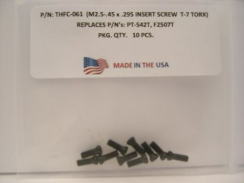 10 Pieces THFC-061 Insert Screw PT-542T