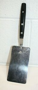 "Vintage Happy Home 5"" End Spatula Turner Flipper Stainless 10"" USA, CLEAN!"