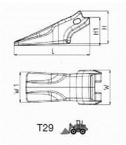 417129 C-Lock Form 29 Größe Min. ZAHNKAPPE flach System C-Parts