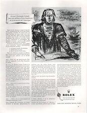 ▬► PUBLICITE ADVERTISING AD Montre Watch ROLEX 1957