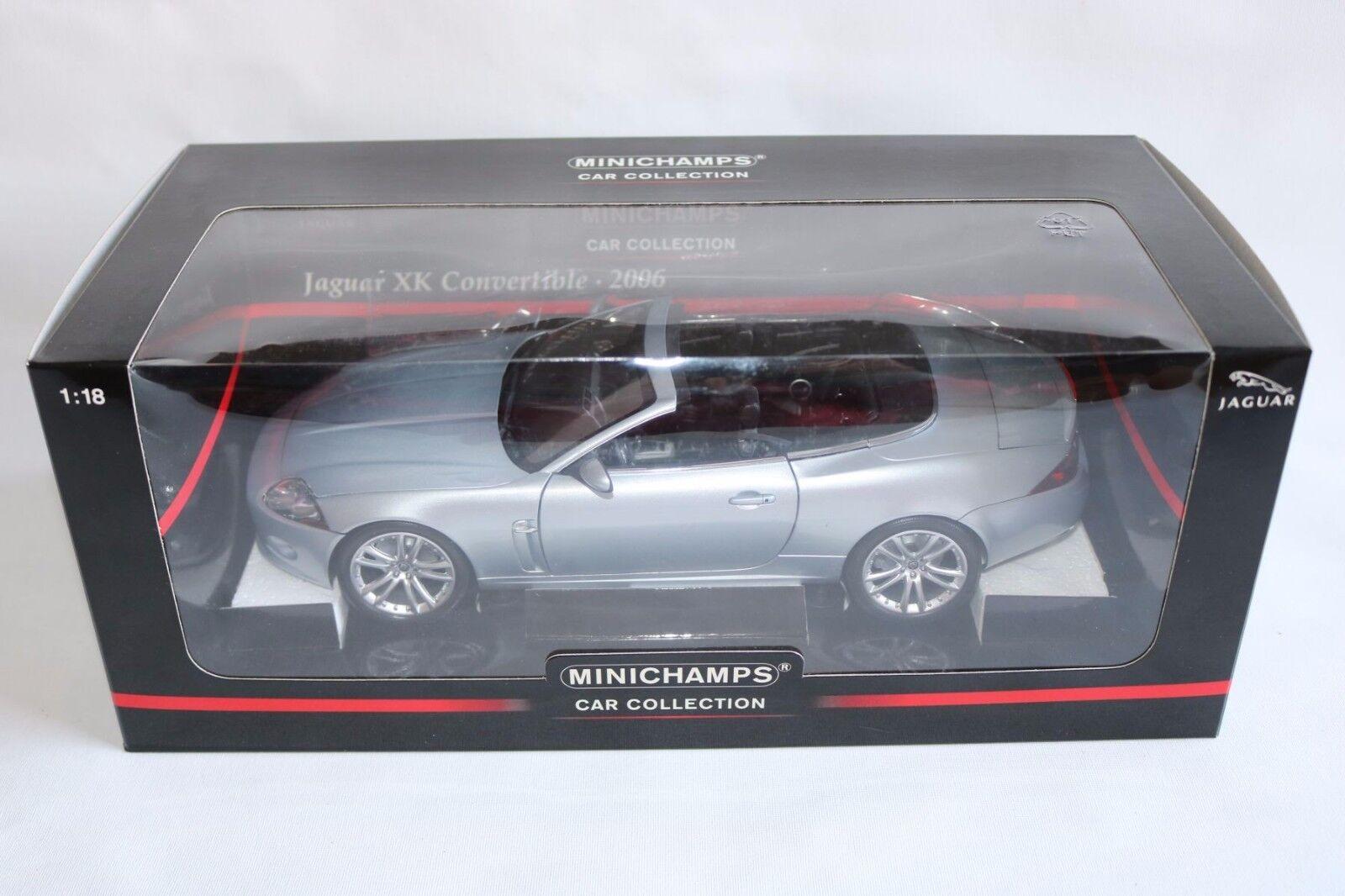 Minichamps Jaguar XK Convertible 2006 argent - gris 1 18 perfect mint in box