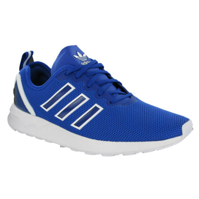 163972b2731dd Adidas ZX Flux ADV Trainers Running Sports Mesh Blue Mens Heel Cage S79007