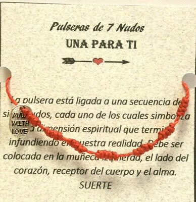"Pulseras  Amuleto /"" SUERTE Oct. LUCK /""   7 nudos de buena suerte"